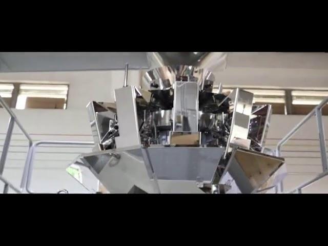 Автоматско вертикално зрно шеќер Грав ориз пакување машина