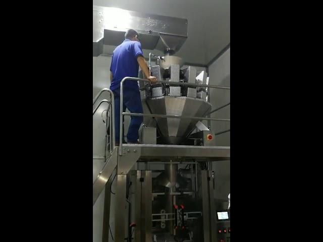 Кина автоматска храна закуски шеќер бонбони прав семе ореви прав вертикална машина за пакување