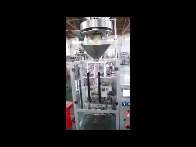 Дозирање од страна на волуметриски полнење чаши леќа ориз шеќер за пакување машина вертикална форма пополнете печат машина